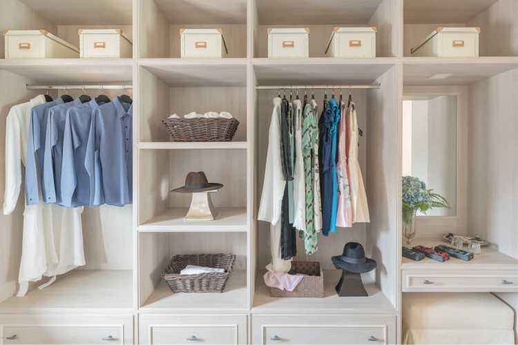closet simples branco