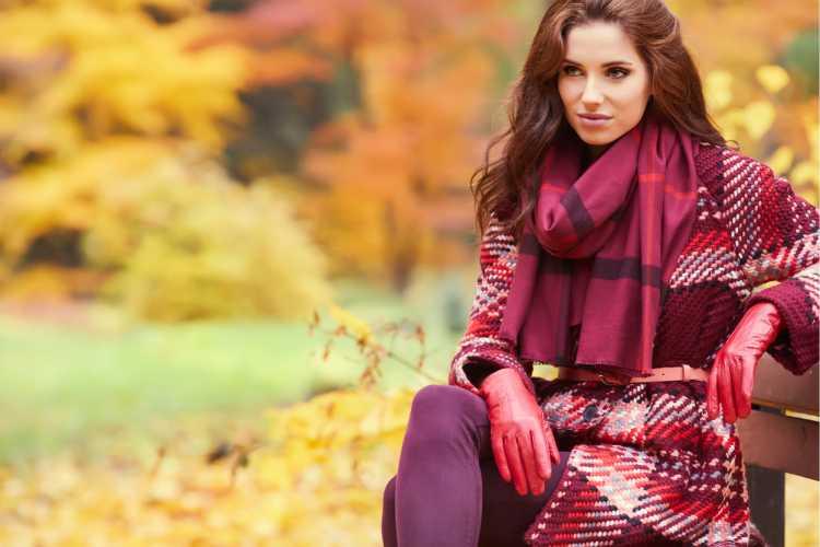 look com casaco xadrez vermelho