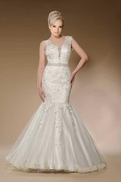 vestido de noiva perfeito todo bordado estilo sereia