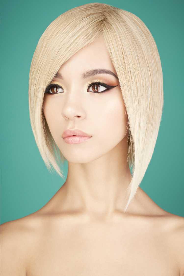 corte de cabelo para rosto oval long bob