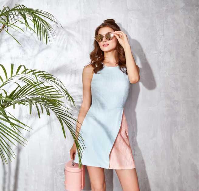 produção com dress delicado para o verão