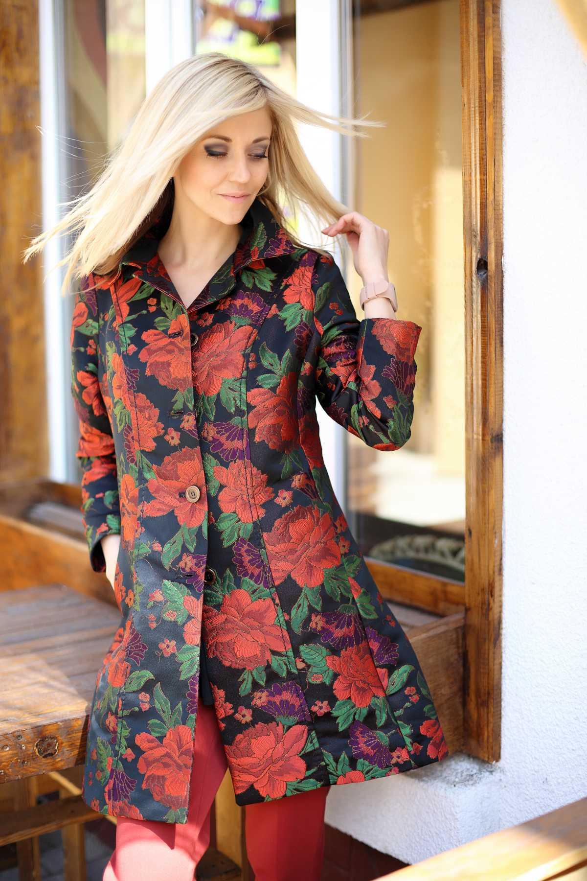 casaco floral