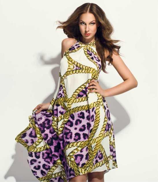 dress super estiloso com detalhes em animal print
