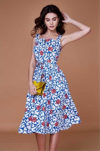 vestido midi floral será um dos hits do verão 2020