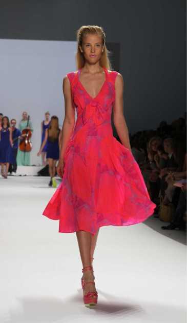 dress rosa neon