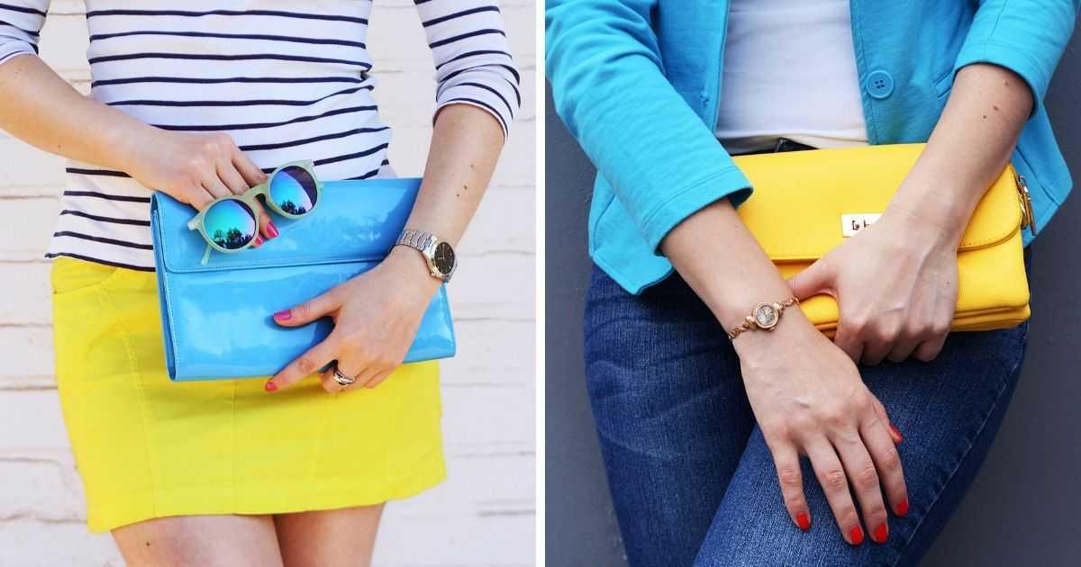 bolsas de mão coloridas