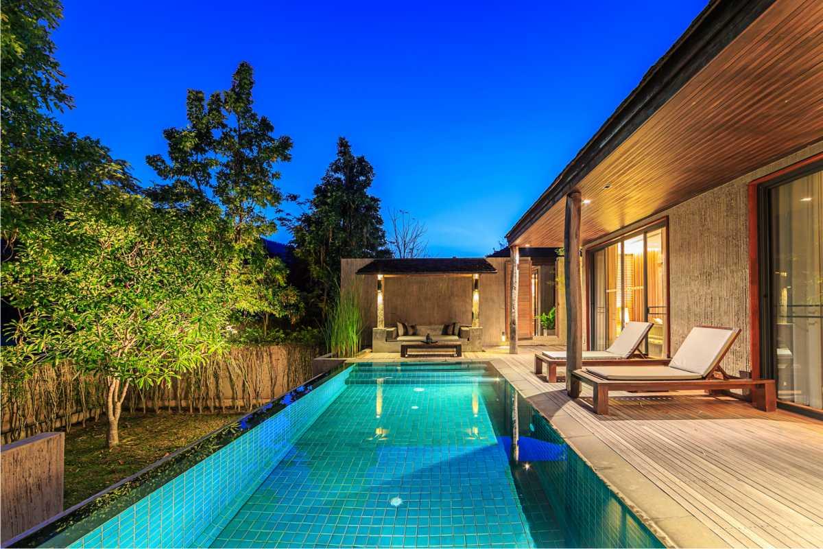 piscina como extensão da casa