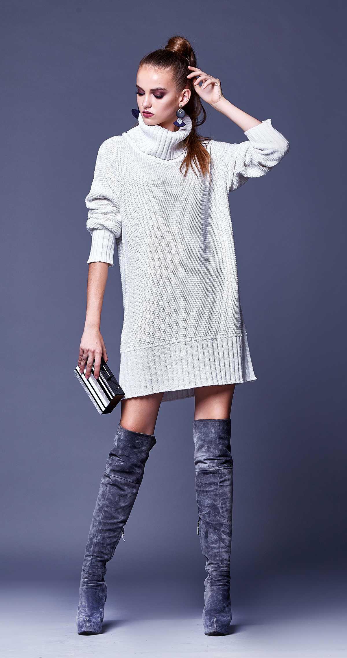 vestido de tricô é uma das peças de tricô trends deste inverno