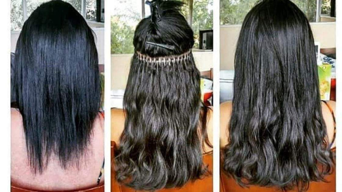Mega hair com micro link