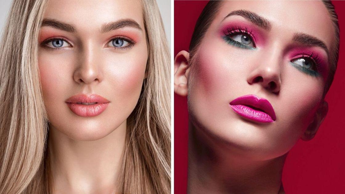 maquiagem monocromática rosa é uma das tendências de maquiagem outono inverno 2020 - [Fotos: shutterstock]