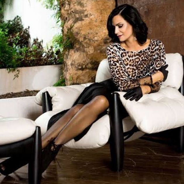Luiza Brunet com corte de cabelo Chanel