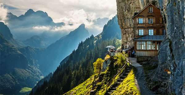 Äscher Cliff, Suíça