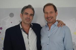 Marcelo Delbarba y Miguel Reca