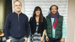 Ali con Gustavo Nougues y Juan Pablo Jurado