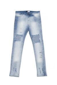Jean chupin boyfriend con maxi roturas. Koxis en Mercado Libre Moda. $1350, ahora $890.