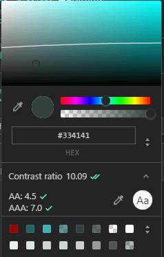 Browser DevTools Chrome page colors