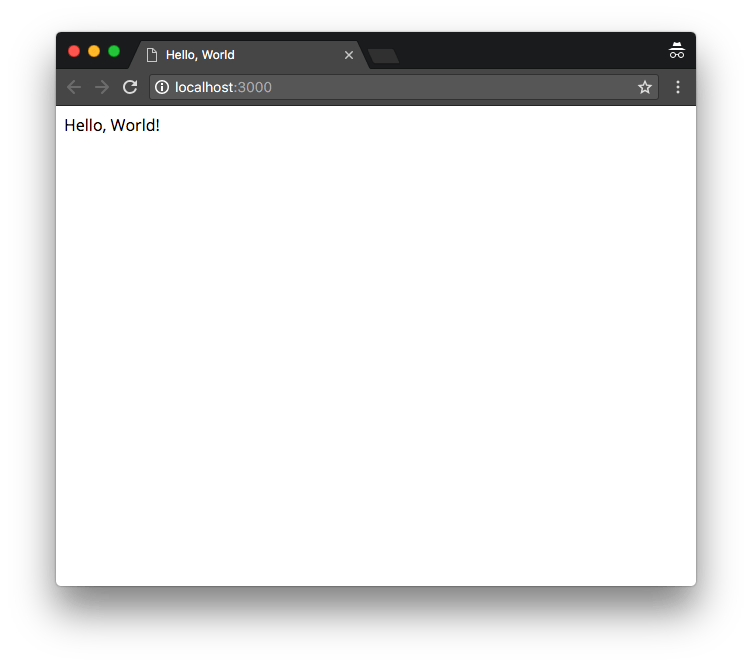 Preview of Hello World in Browser