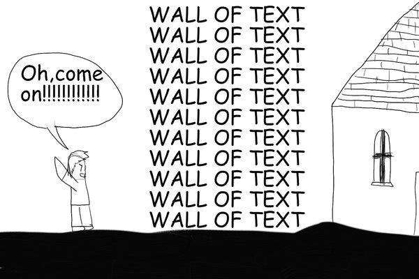 walloftext