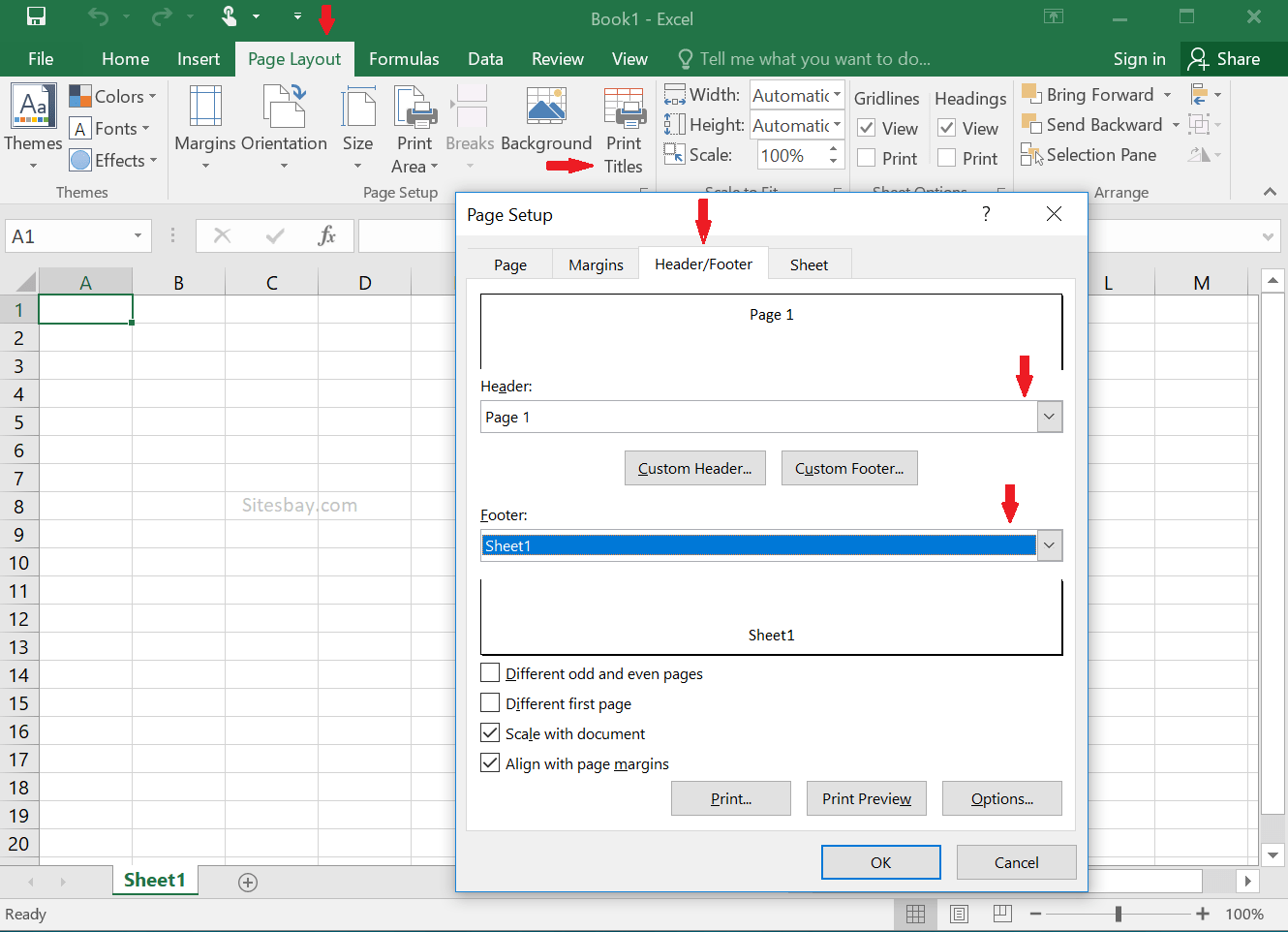 Insert Header And Footer In Excel