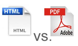 Restaurant Menus: PDF vs  HTML
