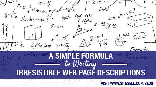 A Simple Formula to Writing Irresistible Web Page Descriptions