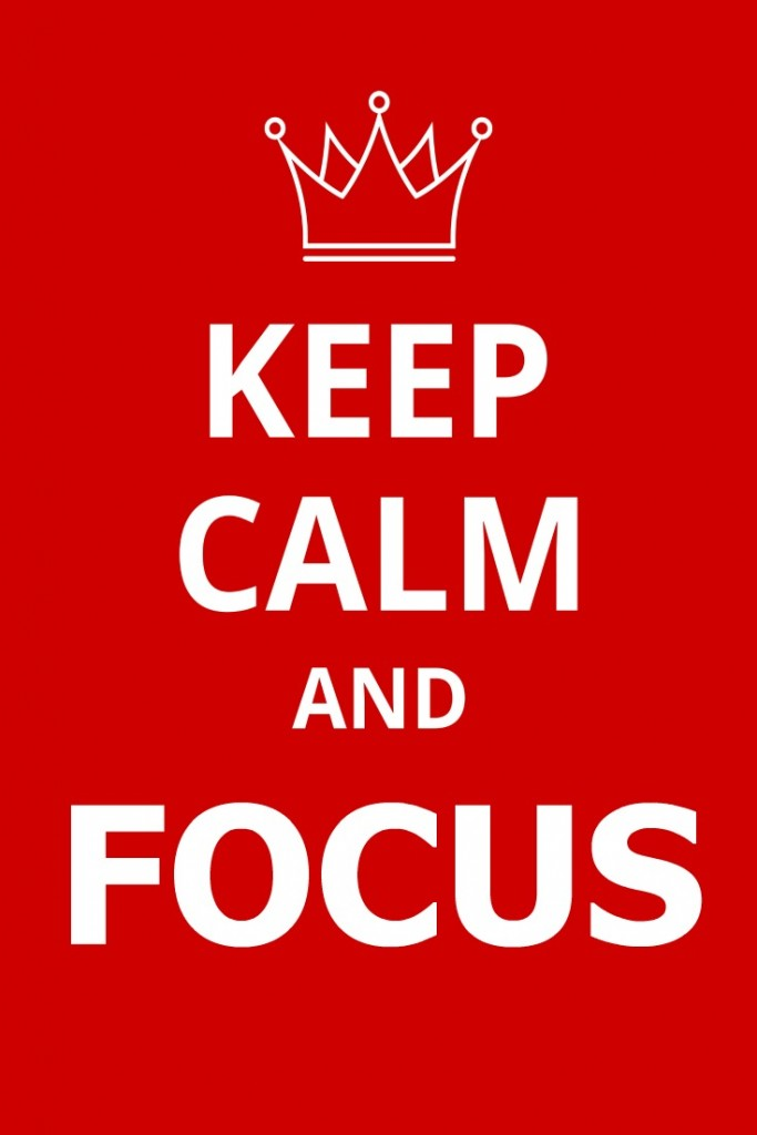 Keep calm red poster in modern line style