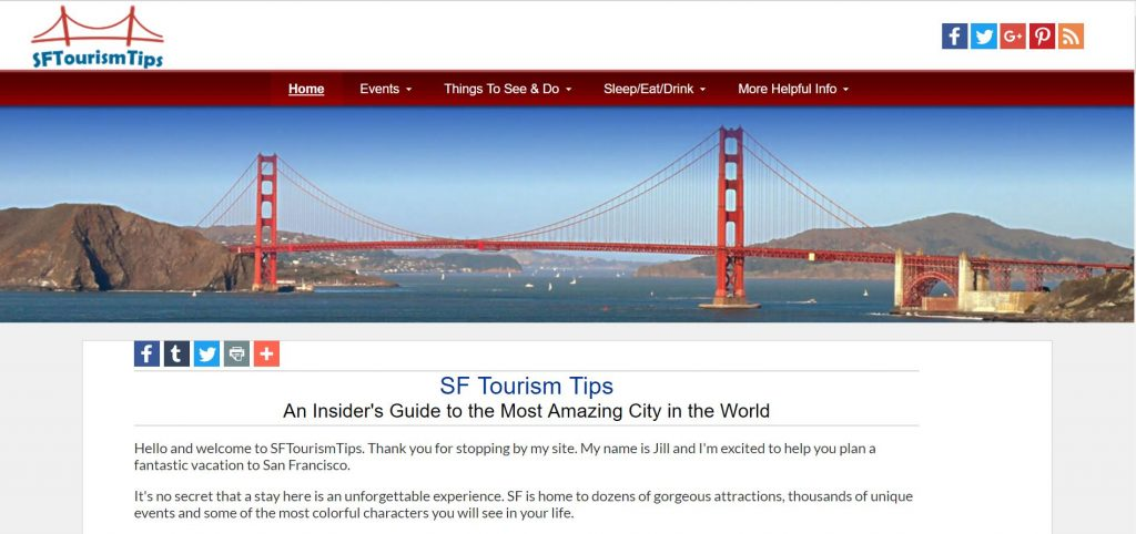 SF Tourism Tips' new modern and responsive look and feel.