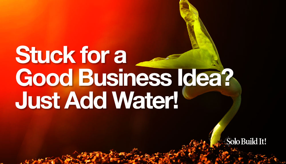 Stuck for a Good Business Idea? Just Add Water!