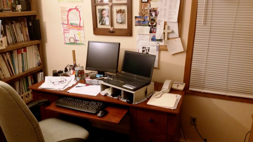 Ann's work-from-home office.