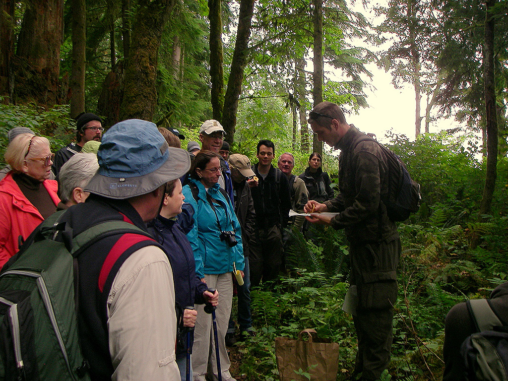 One of the Alderleaf teachers giving a class about mushrooms.