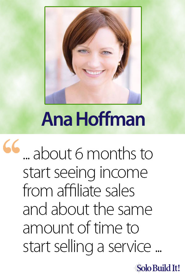 Ana Hoffman - How Long Does It Take to Make Money With an Online Business?