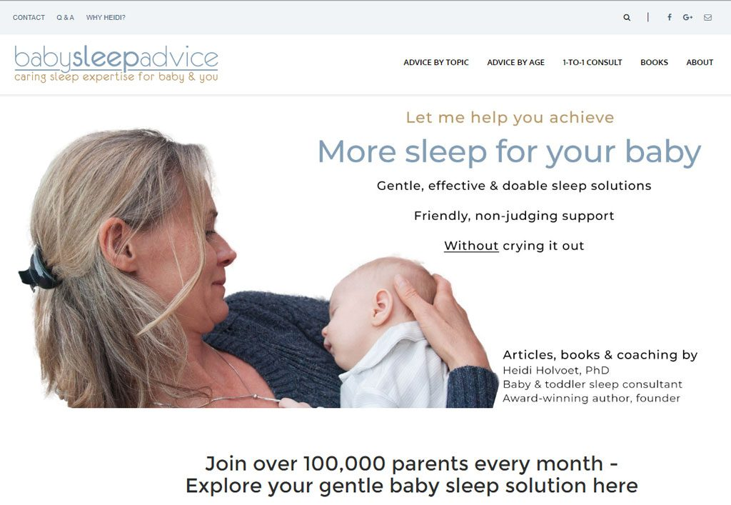 Heidi's current homepage design - all done by her.