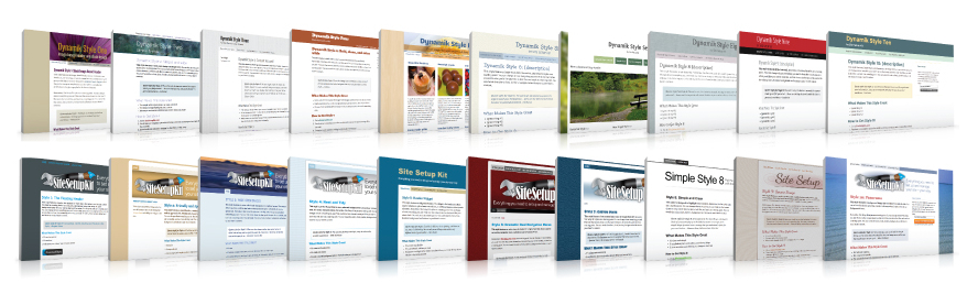 Site Setup Kit Style Warehouse, with 20 plug-and-play styles for your website