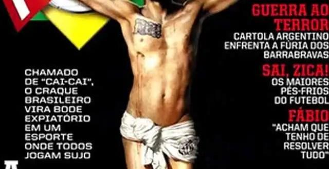 Foto polémica: La 'Crucifixión' de Neymar en Brasil