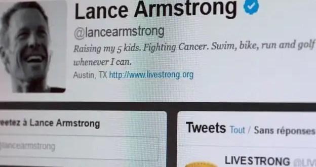 Lance Armstrong elimina de Twitter los títulos ganados en el Tour de Francia