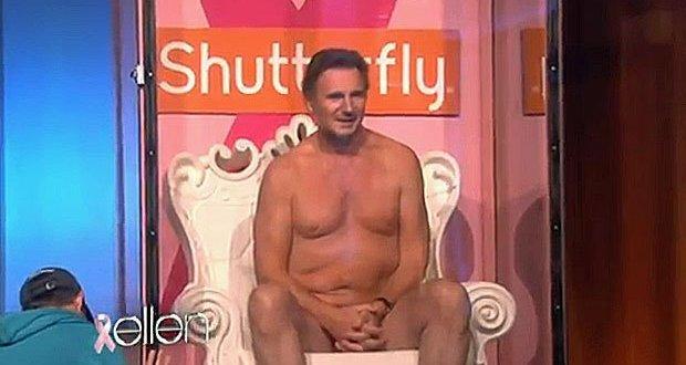 Liam Neeson subasta su cuerpo al natural en TV - Video