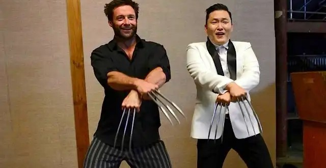 Wolverine baila junto a PSY el Gangnam Style - Video