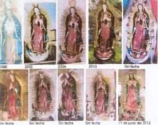 Daño irreparable la restauración de la Virgen de Naturales - Fotos