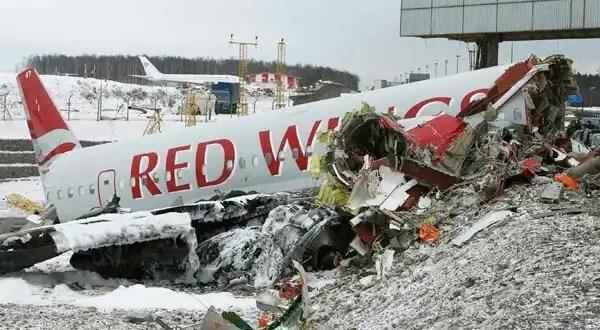 Video espeluznante del accidente de avión en Moscú