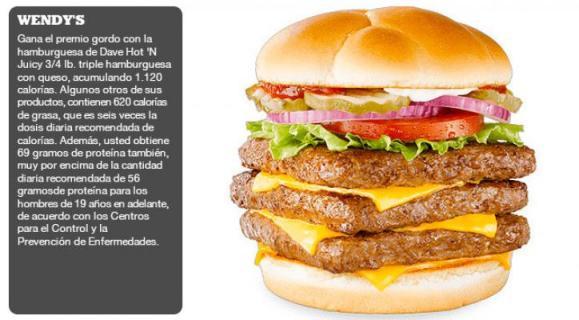Las comidas rápidas que más engordan