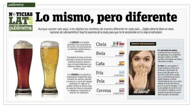 Cómo se llama a la cerveza en América Latina