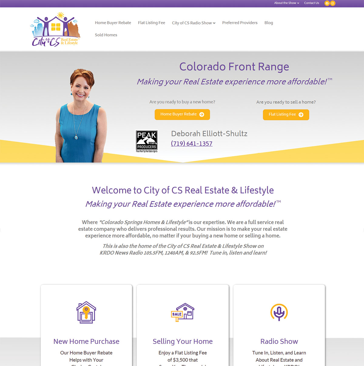 City of CS Real Estate & Lifestyle Web Site Design