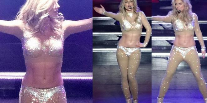 ¿Britney Spears se maquilla los abdominales?