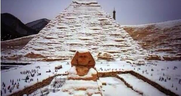 Cae nieve en Egipto por primera vez en 112 años