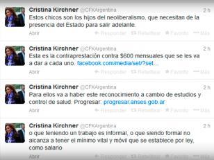 Crsitina volvió a Twitter