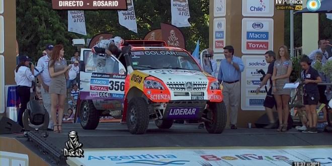 Capitanich, Meyer y Berni, en el inicio del Dakar 2014