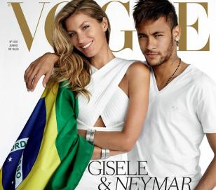 Gisele Bundchen y Neymar, viven la pasión por Brasil