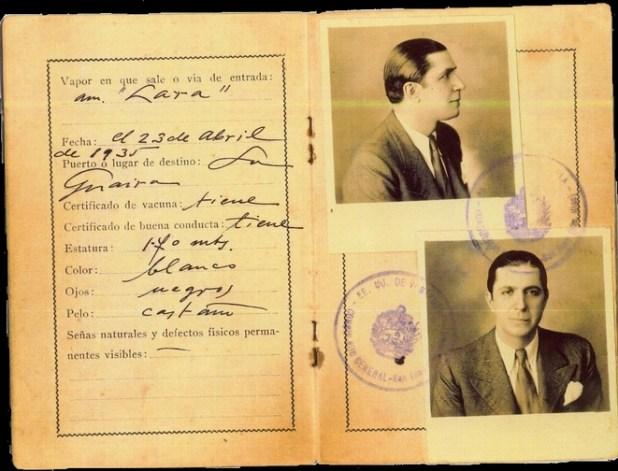 Exhiben la cédula de Carlos Gardel, era Uruguayo