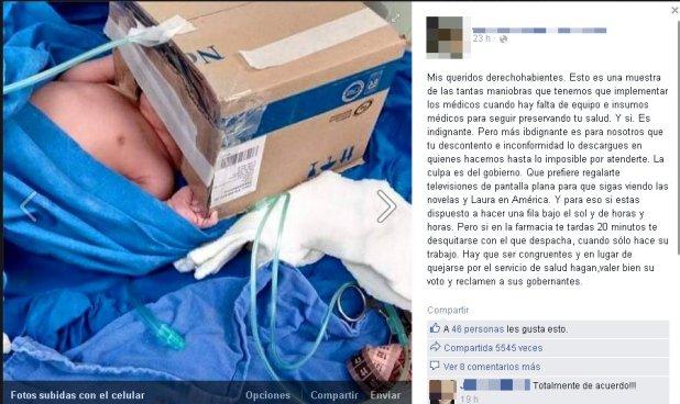 Foto de un respirador improvisado causa indignación en las redes sociales