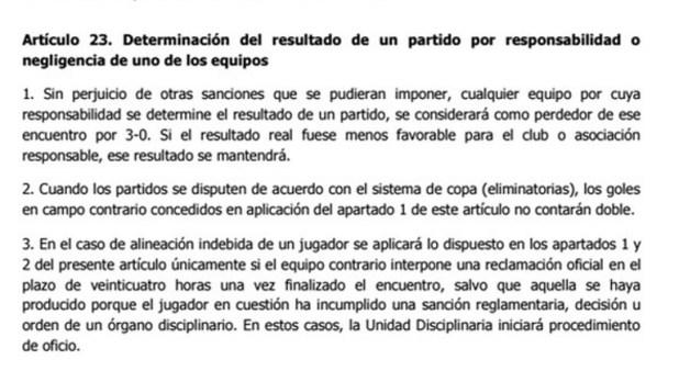 Qué dice el reglamento de la Conmebol ante una suspensión